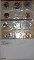 10  SILVER COIN1964 P  D PROOF SET WITH ACCENTED HAIR