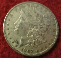 1902-P MORGAN SILVER DOLLAR .900 SILVER IN BCW PROTECTIVE COIN HOLDER LOT J12