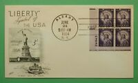DR WHO 1954 FDC STATUE OF LIBERTY FLEETWOOD CACHET C241918