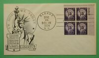DR WHO 1954 FDC STATUE OF LIBERTY DAY LOWRY CACHET C241919