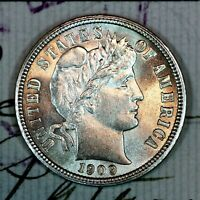 1909 P   SOLID GEM BU MS SILVER BARBER DIME   FROM ORIGINAL COLLECTION