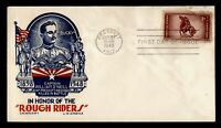 DR WHO 1948 FDC ROUGH RIDERS ANIV STAEHLE/CACHET CRAFT  G198