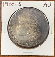 1900-S MORGAN SILVER DOLLAR ABOUT UNCIRCULATED AUBETTER DATE