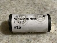 2016 D  US MINT SEALED NATIVE AMERICAN DOLLAR COIN  1 ROLL O