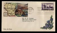 DR WHO 1948 FDC WISCONSIN CENTENNIAL HOBO ART ADD ON CACHET
