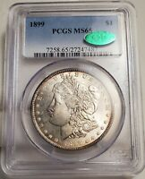 1899P MORGAN SILVER DOLLAR PCGS MINT STATE 65 [CAC] BEAUTY