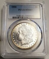 1886P MORGAN SILVER DOLLAR PCGS MINT STATE 66 SHOULD BE A 67 A PERFECT GEM