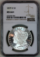 1879-S  MINT STATE 66 NGC  MORGAN SILVER DOLLAR  PREMIUM QUALITY SUPERB EYE APPEAL