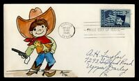 DR WHO 1945 FDC TEXAS STATEHOOD CENTENNIAL HANDPAINTED CACHE