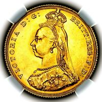 1887 QUEEN VICTORIA GREAT BRITAIN LONDON MINT GOLD SOVEREIGN