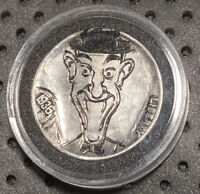 HAND CARVED ENGRAVED HOBO NICKEL COIN 1936 & 1937 LAUREL & HARDY