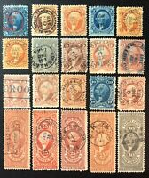 SCOTT FIRST ISSUE US REVENUES  20  HANDSTAMP CANCELS S IN DE