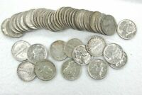 ROLL OF 50 MERCURY 90  SILVER DIMES EXTRA FINE XF TO ALMOST