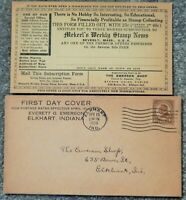 582 HARDING 1925 FIRST DAY COVER W/ MEKEEL'S STAMP PROMO CAR