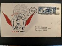 US FDC LINDBERGH C10 1927 ST. LOUIS FIRST MAUCK