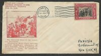 USA 1929 GEORGE ROGERS CLARK VINCENNES INDIANA FIRST DAY COV