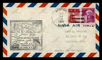 DR WHO 1947 BOSTON MA FIRST FLIGHT TO ST JOHN NB CANADA  G29