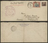USA 1929   ZEPPELIN FLIGHT AIR MAIL COVER TO GERMANY U480