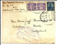 US STAMPS   GRAF ZEPPELIN FIRST FLIGHT COVER   US TO GERMANY