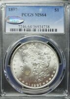 1897-P  MORGAN DOLLAR PCGS MINT STATE 64    DOLLAR PRICES ARE GOING UP