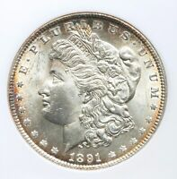 1891 P ANACS MINT STATE 63 MORGAN SILVER DOLLAR OGH OLD THIN HOLDER BETTER DATE