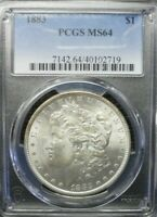 1883-P  MORGAN DOLLAR PCGS MINT STATE 64      DOLLAR PRICES ARE GOING UP