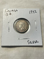 1942 CANADIAN DIME 80  SILVER. NICE CIRCULATED COIN  FREE SH