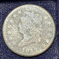 1812 LARGE CENT CLASSIC HEAD ONE CENT 1C CIRCULATED  34712
