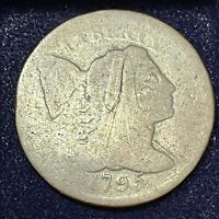 1795 LARGE CENT LIBERTY CAP FLOWING HAIR ONE CENT CIRCULATED 34670