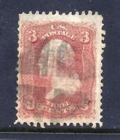US STAMPS   83   USED   3 CENT WASHINGTON ISSUE W/C GRILL