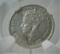 1943 C NEWFOUNDLAND CANADA 10 CENT SILVER NGC XF45 CONDITION