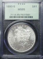 1880-S  MORGAN DOLLAR PCGS MINT STATE 65  OGH TONED REV    DOLLAR PRICES ARE GOING UP
