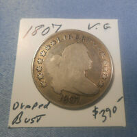 1807 DRAPED BUST HALF - 213 YEARS OLD  GOOD - LAST YEAR OF THE DRAPED BUST