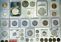 142 PIECES OF GOLD/SILVER.COLLECTOR/INVESTOR US COIN LOT. NG