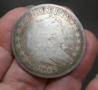 1806 DRAPED BUST HALF   215 YEARS OLD   ORIGINAL NEVER  CLEA