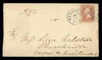 DR WHO 1860S NASHVILLE TN FANCY CANCEL GREEN GRILL TO CHURCH