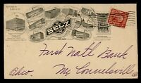 1908 CHICAGO IL ADVERTISING SHOE CO TO CONNELSVILLE OH