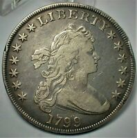 1799 DRAPED BUST SILVER DOLLAR VF DETAILS AS SHOWN    423