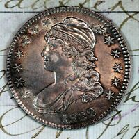 1832   CHOICE AU /UNC CAPPED BUST HALF DOLLAR   FROM ORIGINAL COLLECTION