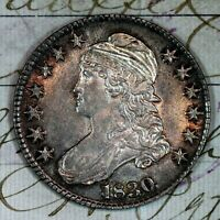 1830   CHOICE AU /UNC CAPPED BUST HALF DOLLAR   FROM ORIGINAL COLLECTION