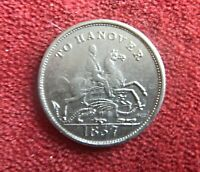 1837 INTERESTING ODDITY SILVER OR CHROME PLATED CUMBERLAND JACK   701