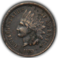 1872 INDIAN HEAD CENT PENNY KEY DATE VF XF DETAILS