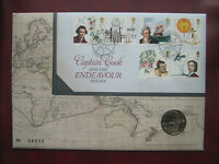 UK 2018 CAPTAIN COOK 2 POUND COIN 1ST DAY COVER