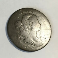 LARGE CENT 1800 G/VG DETAILS OLD SCRATCHES  STRONG REV & CLEAR DATE