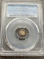 AVC- 1835 LARGE DATE, LARGE 5 CAPPED BUST HALF DIME PCGS MINT STATE 62 RAINBOW