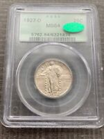 AVC- 1927-D STANDING LIBERTY QUARTER MINT STATE 64 CAC OGH