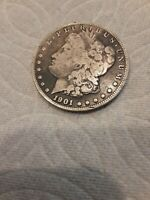 1901 - O MORGAN SILVER DOLLAR F - SEE PICTURE 852A