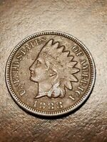 1888 INDIAN HEAD CENT PENNY