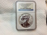 2011 P SILVER EAGLE NGC REVERSE PROOF PF69 25TH ANNIVERSARY SET COIN