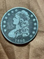 1836 CAPPED BUST HALF DOLLAR, EARLY DATE SILVER 50C